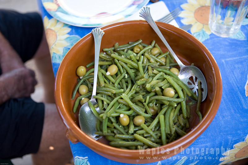 Greenbeans with Olives (Les haricots verts avec oliviers)
