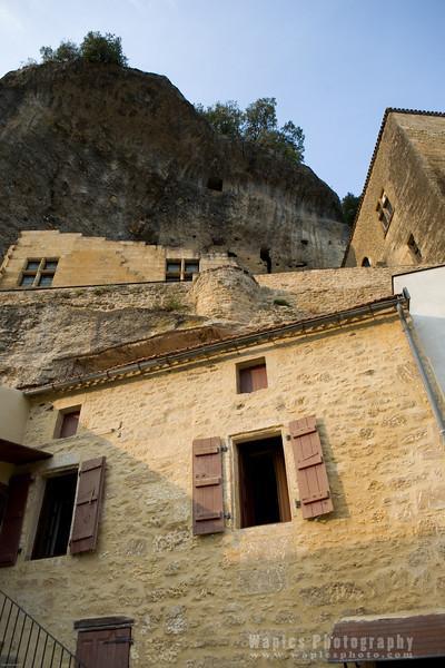 Homes built into walls