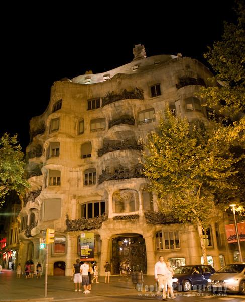 Casa Milˆ, better known as La Pedrera, at Night