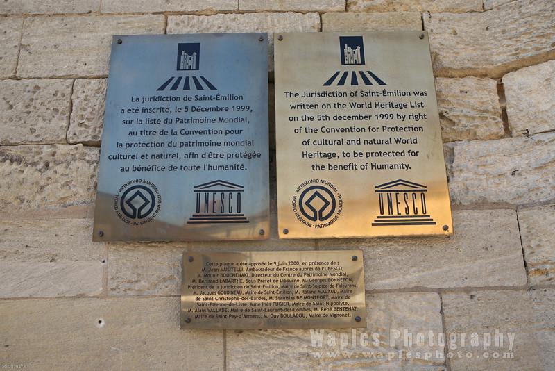 Saint-ƒmilion, UNESCO World Heritage Site
