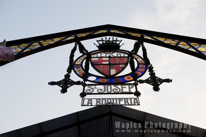 Signpost for La Boqueria