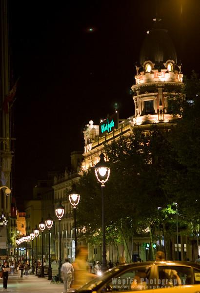 Plaa Catalunya at Night