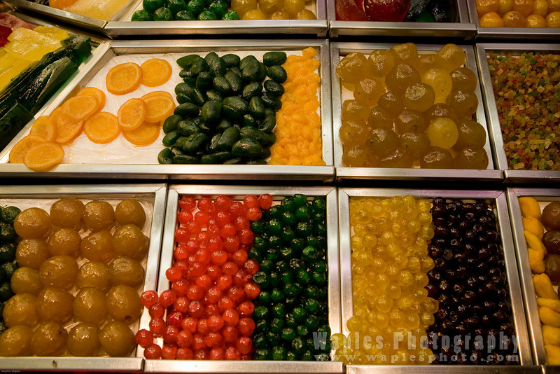 Candied Fruit Display
