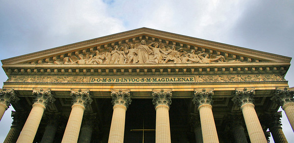 Detail of The Last Judgment on the pediment.