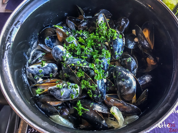 Eating mussels in Normandy