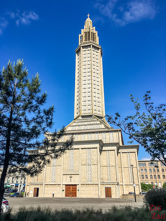 Things to do in Le Havre cruise port - Perret architecture st joseph church