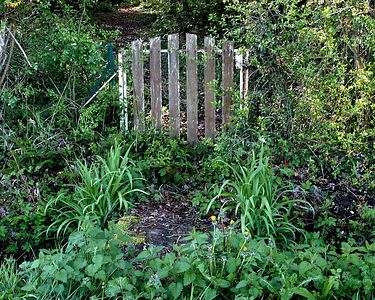 This gate was the entrance to a path leading to the tow path along the canal.