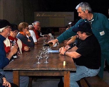 Wine tasting at one of the Sancerre vineyards.