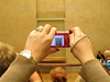 Taking a picture of the Mona Lisa