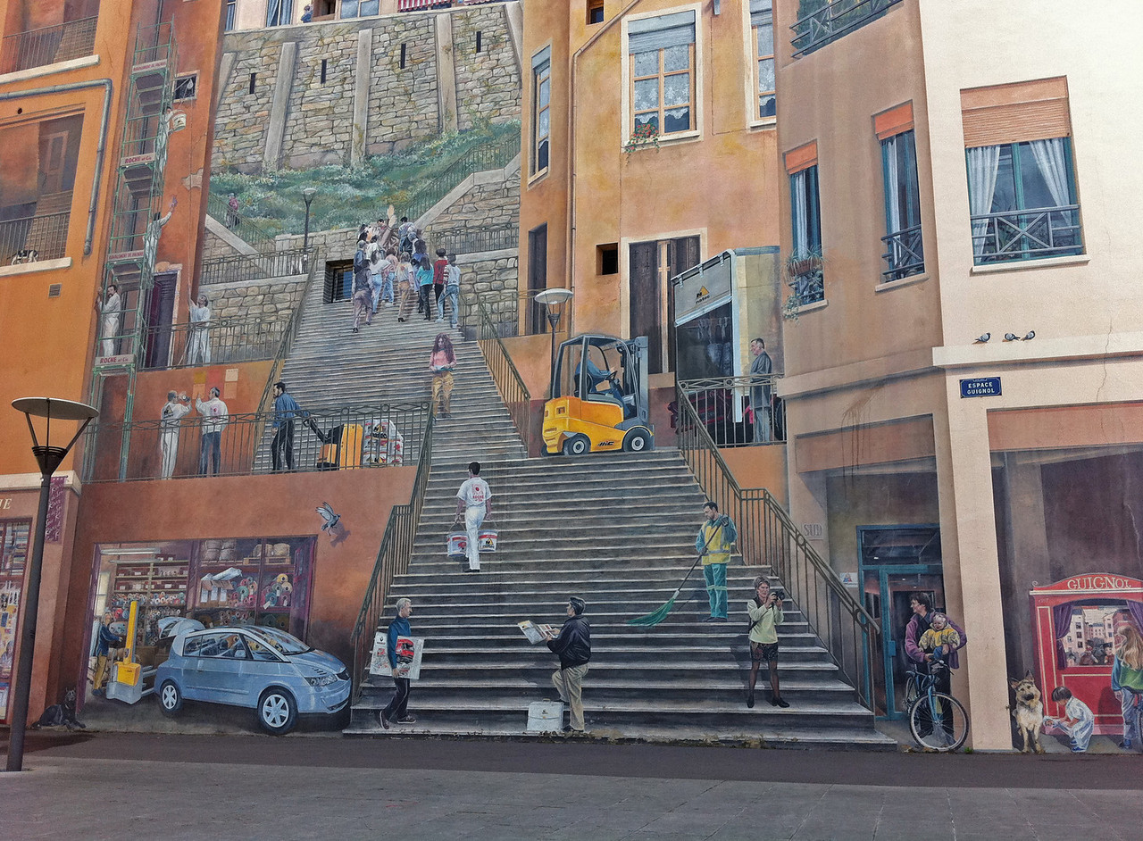 Lyon, France. The biggest mural in Europe.