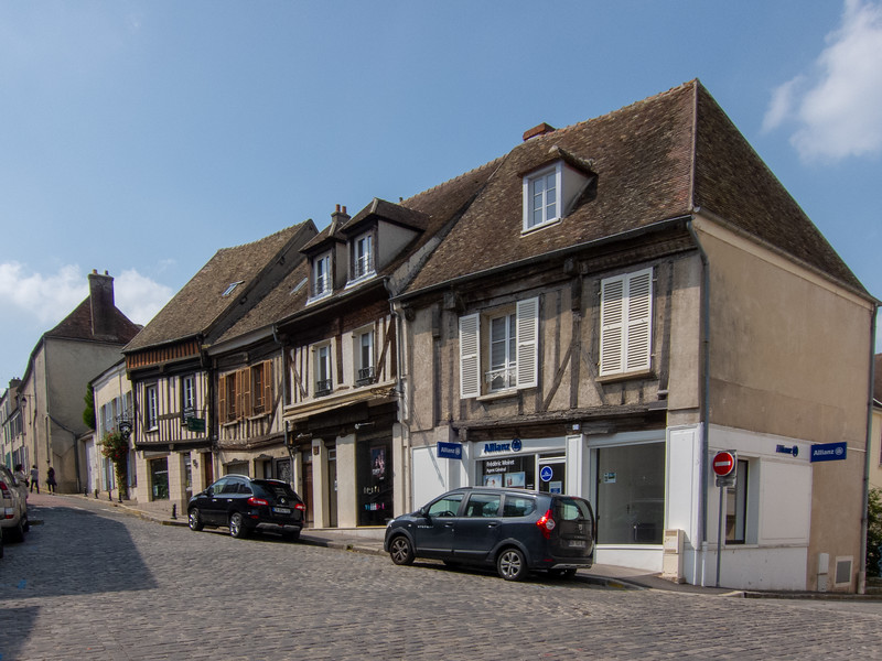 Houses on Rue Saint Laurent, Montfort l'Amaury, France