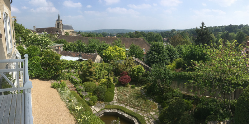 The view from the Ravel house balcony includes St Peters and the garden.