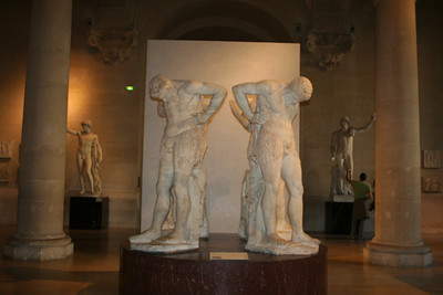 I loved the sculptures at the Louvre.