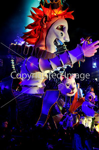 Nice, France, Public Events, Carnival Parade, Huge Floats on Street at Night, TO license- www.alamy.com (Directphoto)