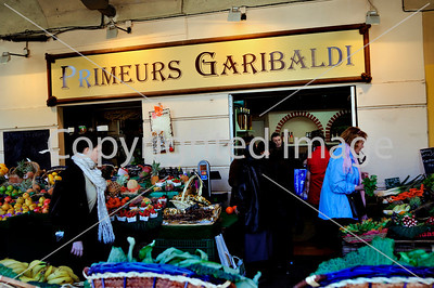 Nice, France - Women SHopping, Public Outdoors Vegetable Market, on Place Garibaldi