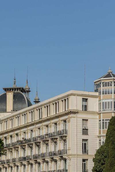 The distinctive towers of Hotel Regina