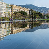 La promenade du Paillon is a piece of urban genius. The design incorporates a series of mometary fountains which leave behind a mirror like surface across the square, reflecting the buildings and surrounding mountains.