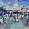 Angelo Garino painting, Promenade des Anglais (1922)