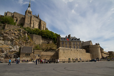 Another view of the Abbey du Mt. St. Michel in the Normandy region of France.   http://en.wikipedia.org/wiki/Mont_Saint-Michel