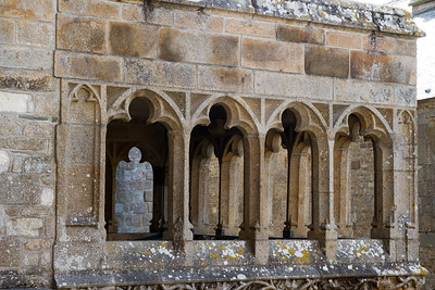Architecture feature of part of the abbey.