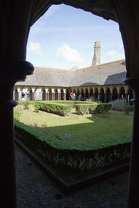 Courtyard/garden at the abbey.