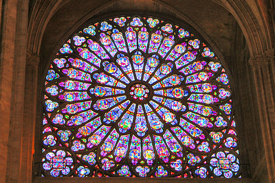 The north rose window of Notre Dame de Paris.
