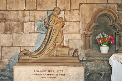Leon Adolphe Cardinal Amette (1850 - 1920) was a French Catholic cardinal and Archbishop of Paris 1908-1920. He consecrated Sacre Coeur Cathedral in 1919.