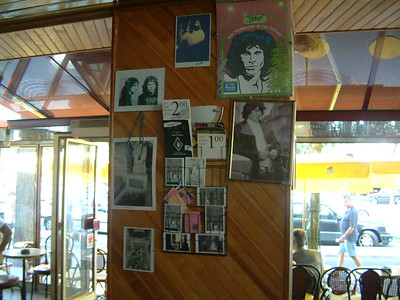 Jim Morrison- a cafe by the ticket booth