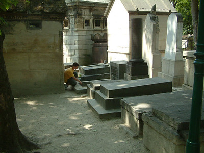 Where Jim Morrison's grave is placed