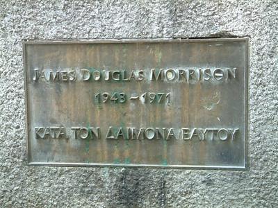 Jim Morrison - grave marker