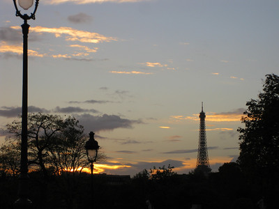 As much of a sunset one can see while in Paris.