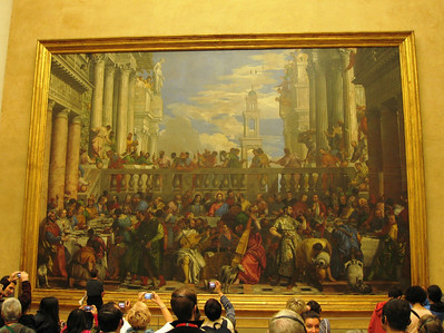 """To me it was strange, that directly facing the Mona Lisa, is this massive extravagant work. """"The Wedding at Cana"""" is the largest painting in the museum."""
