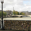 I was a little surprised at just how many locks there are on this bridge (Pont des Arts). I'm sure it's mostly tourists, as there's a guy selling locks on the bridge.  As we went around France, we noticed locks on many bridges.
