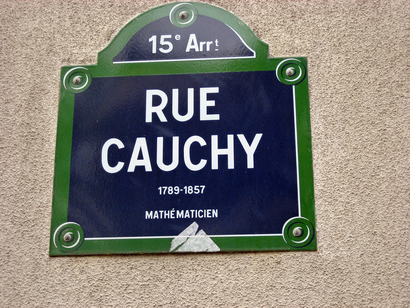 They'll name a street for anyone (except Galois)