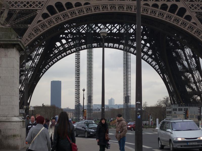 Tour Montparnasse framed by Tour Eiffel<br /> Paris - 2013-01-11 at 14-33-45