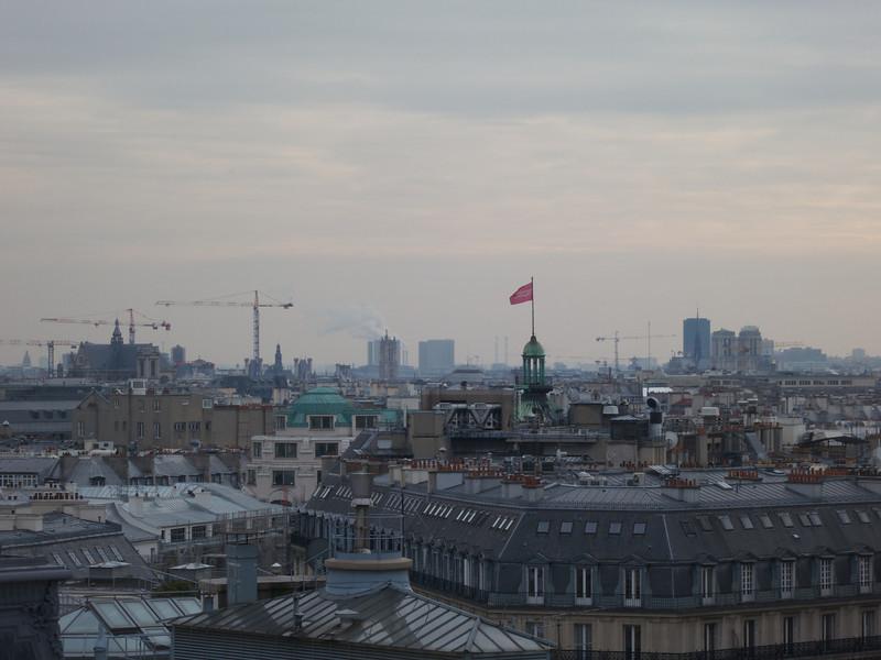 Pompidou on the left, Les Hales construction center, Notre Dame on the right<br /> Paris - 2013-01-14 at 14-13-35