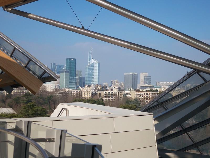Fondation Louis Vuitton; La Defense in the distance<br /> Paris - 2015-02-19 at 12-41-40