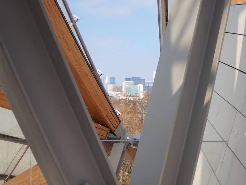 Fondation Louis Vuitton;<br /> La Defense in the distance<br /> Paris - 2015-02-19 at 12-36-38