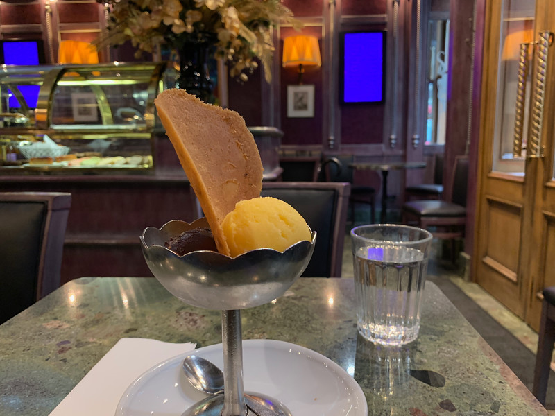 Mango and Dark Chocolate at the Berthillon Tea Room