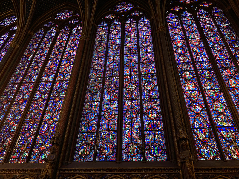 Stained Glass windows at Sainte Chanpelle