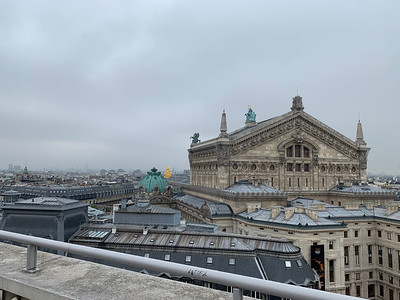 Garnier opera from the roof of Galeries Lafayette