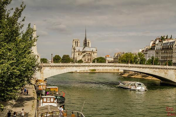 Photo of Notre Dame from Pont de Sully, Paris