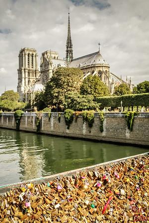 Best spot to photograph Notre Dame from: Pont de l'archeveche Paris