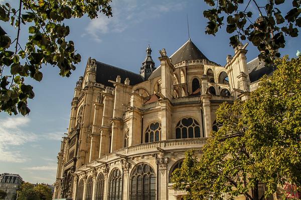 Saint Eustache Paris : facade 5