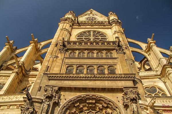 Saint Eustache Paris : facade 4
