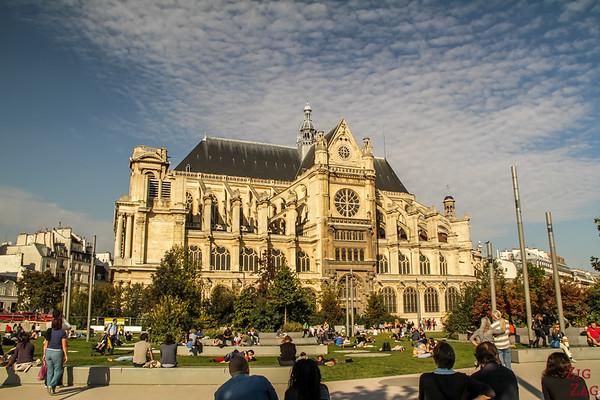 Saint Eustache Paris : facade 1