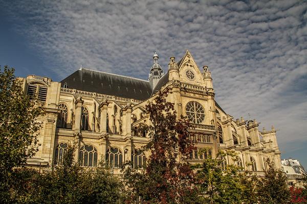 Saint Eustache Paris : facade 7