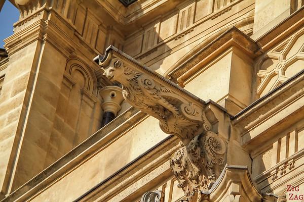 Saint Eustache Paris : details facade 1