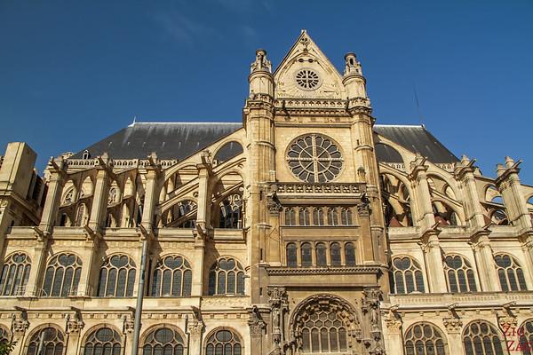 Saint Eustache Paris : facade 2