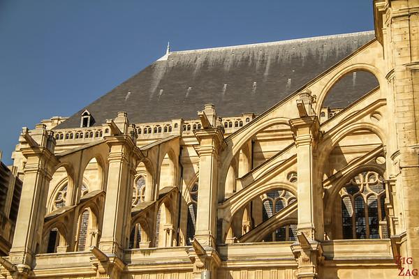 Saint Eustache Paris : facade 3